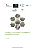 EA – Working With Natural Processes – Evidence Directory