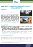 Community Engagement Case Study: Kendal, Cumbria (Newground)