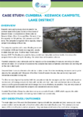 Community Resilience Case Study: Keswick Campsite, Lake District