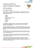 Coping with the psychological effects of flooding – NHS Cumbria Partnership