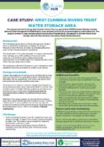 Natural Flood Management Case Study: West Cumbria Rivers Trust Water Storage Area