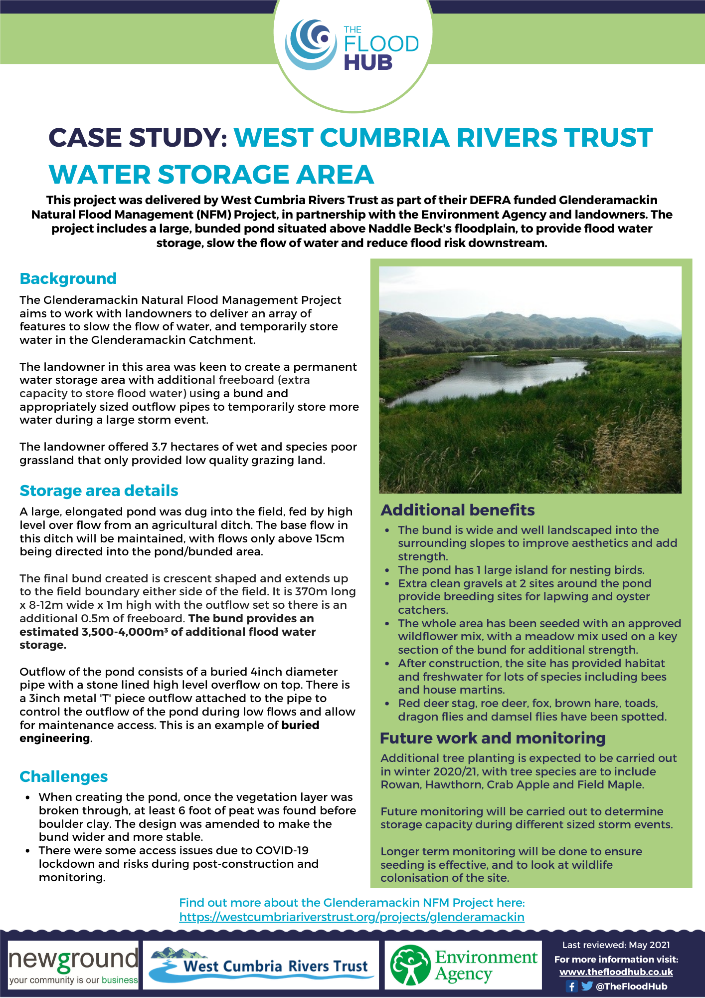 Natural Flood Management Case Study: West Cumbria Rivers Trust Water Storage Area