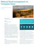 Natural Flood Management Case Study: Crompton Moor, Oldham