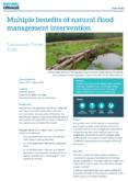 Natural Flood Management Case Study: Multiple benefits of natural flood management intervention