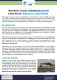 Property Flood Resilience Grant Case Study: Burnley, Lancashire