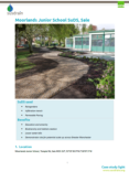 Sustainable Drainage Systems (SuDS) Case Study: Susdrain Moorlands Junior School SuDS, Sale