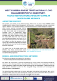 Natural Flood Management Case Study: Hedge restoration and leaky dams at Moor Farm, Keswick